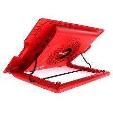 พัดลมรองโน้ตบุ๊ค Cooler Pad N-25C (1Fan) Red 'Magic Tech'