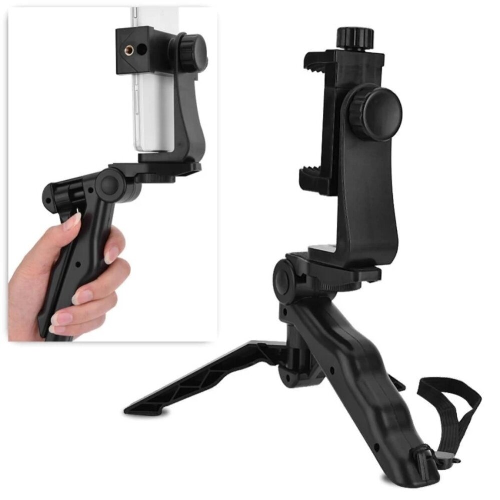 Di shop Phone Holder Tripod Handheld Stabilizer Hand Grip Mount for Smartphone - intl