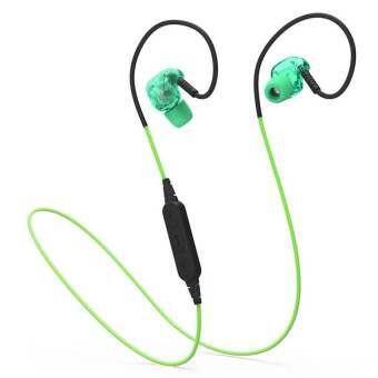 PLEXTONE BX240 ไร้สายหูฟังบลูทูธกีฬาหูฟังสเตอริโอเฮดเซ็ตกันน้ำพร้อมไมโครโฟน - สีเขียว - INTL