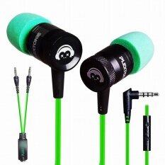 ส่วนลด สินค้า Plextone Sports Stereo Bass Earphone With Mic In Ear Headphones Gaming Headset Noise Cancelling G10 Green Intl