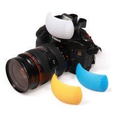 Pop-up Flash Diffuser ตัวกระจายแสงแฟลช 3 สี ขาว ส้ม ฟ้า