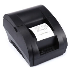 ซื้อ Portable 58Mm Usb Pos Receipt Thermal Printer Eu Plug Black Intl ถูก จีน