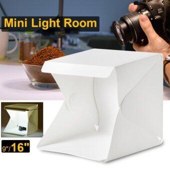 สตูดิโอถ่ายภาพแบบพกพา Light Room 16\ Photography Studio Light Tent Photo Shooting Box ไฟ LED ฉากหลังสีขาว ดำ (สีขาว)