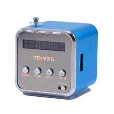 ซื้อ Portable Mini Speaker Fm Radio Support Tf Card And U Disk Blue Intl ถูก ใน จีน