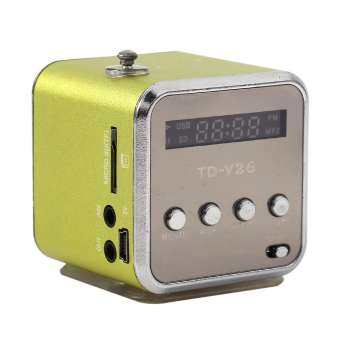 epayst Portable Mini Speaker FM Radio Support TF card and U disk Portable Players Green-