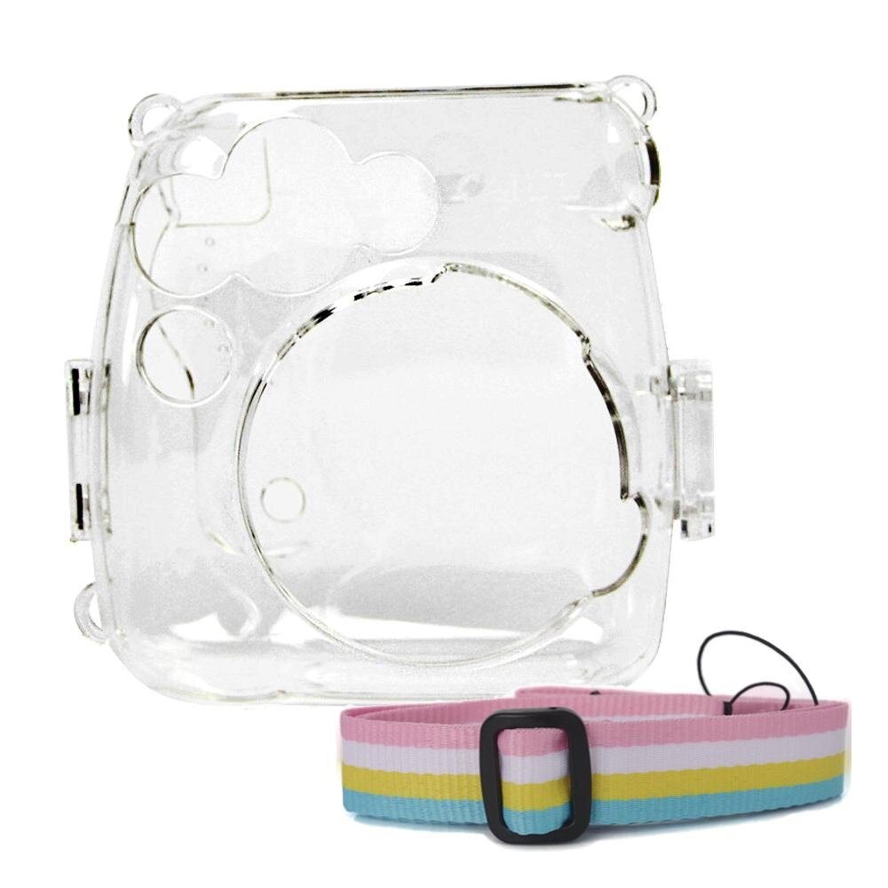 Portable Protective Case Accessory Cover Plastic Storage Bag with Removable Adjustable Shoulder Strap for Fujifilm Instax Mini 9 8 8+ Model Instant Cameras Clear - intl