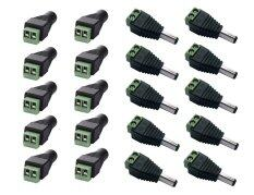 Posdou 20Pcs 2 1X5 5Mm Dc Power Cable Jack Adapter Connector Plug Led Strip Cctv Camera Use 12V 10Pcs Female 10 Pcs Male Intl เป็นต้นฉบับ