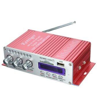 เครื่องเสียงลำโพงเครื่องขยายสัญญาณ 2-CH AMP สำหรับรถมอเตอร์ไซค์ MP3\nFM เสียงเพลงมินิ