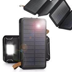 ขาย ซื้อ แบตสำรอง Power Bank พลังงานแสงอาทิตย์ 3 ระบบ กันน้ำได้ 12000Mah Solar Charger 4 Sun Power Panel Portable Power Bank 12000Mah