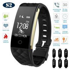 powerbank cc ดอัตราการเต้นหัวใจ ฟิตเนส นาฬิกาสุขภาพอัจฉริยะ ติดตามกิจกรรม โหมดขี่จักรยาน Android iOS Smart bracelet รุ่น S2 - Black