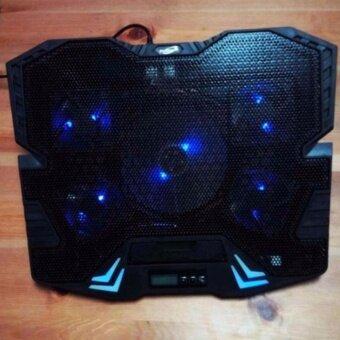 Primaxx Fan Notebook พัดลมระบายความร้อน 9-17\ 5ใบพัด มี LCDรุ่น K5 (สีดำ)
