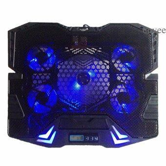 Primaxx Fan Notebook พัดลมระบายความร้อน 9-17\ 5ใบพัด มี LCDรุ่น K5 (สีดำ)Black
