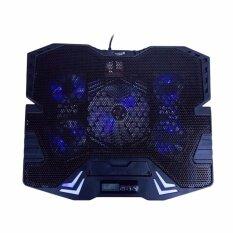 "Primaxx Notebook CoolingPad 5fans พัดลมรองโน็ตบุ๊ค 5 ใบพัด ขนาด 9""-17"" นิ้ว รุ่น K5 - (สีดำ)"