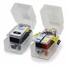 ทบทวน ที่สุด Pritop Canon Printer Pixma E500 E510 E600 ใช้ตลับหมึกอิงค์แบบเปลี่ยนสำลีเทียบเท่า รุ่น Pg 88 Cl 98