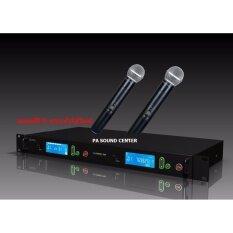 PRO EUROTECH ไมโครโฟนไร้สาย คลื่นความถี่ UHF ไมค์ลอย ถือคู่ ปรับความถี่  ET 999A