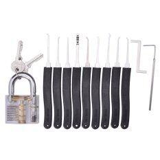 ราคา กลอนความโปร่งใส 10ชิ้น กุญแจผีชุดเครื่องมือการฝึกอบรม สีดำ ใส
