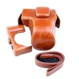 ราคา Protective Pu Leather Camera Case Bag Cover Tripod Design Withshoulder Strap For Olympus Epl5 Epl6 Epm2 Brown Camera Notincluded Intl Unbranded Generic