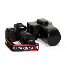 ส่วนลด Protective Pu Leather Camera Case Bag Cover With Tripod Mount For Canon 5Diii 5Dii Camera Not Included Black Intl Unbranded Generic ใน จีน