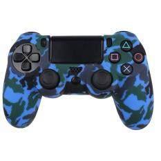 ซิลิโคน เคส จอย PS4 CAMO ลายพราง สีน้ำเงิน