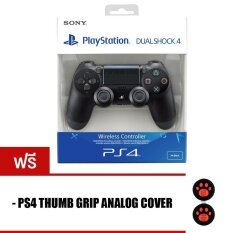 PS4 NEW DUALSHOCK 4 Light bar Controller [BLACK] + PS4 Thumb Grips Analog Cover