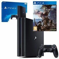 PS4 Pro 1TB CUH-7106B Asia(Black) FREE แผ่นแท้ Monster Hunter World (Z3)