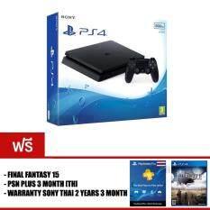 PS4 SLIM : JET BLACK [500GB] + FINAL FANTASY XV + PSN PLUS 3 MONTH