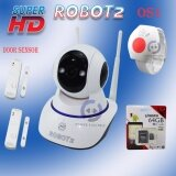 Psi Robot กล้องวงจรปิด อัจฉริยะ Online ดูผ่านมือถือ Wifi Ip Camera Security Super Hd รุ่น Robot2 Door Sensor 2 ตัว Os1 นาฬิกาแจ้งเตือนฉุกเฉิน 1 ตัว Kingston Micro Sd 64Gb Class10 เป็นต้นฉบับ