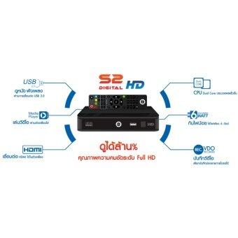 PSI กล่องรับสัญญาณดาวเทียม รุ่น S2 HD ใช้ได้ทั้งจาน C bandKu band (Black)