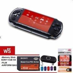 PSP 3000 (Black) +16GB+game+กระเป๋า+กันรอย