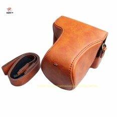 ราคา สีน้ำตาลหนังหนังเทียมกล้องกระเป๋าเคสสำหรับ Canon Eos M10 Unbranded Generic ใหม่