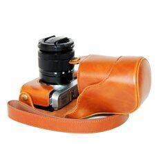 ขาย กระเป๋าหนัง Pu ฝากระเป๋ากล้องสำหรับ Fujifilm Xm1 Xa1 Xa2 สีน้ำตาล ไม่รวมกล้อง Unbranded Generic เป็นต้นฉบับ