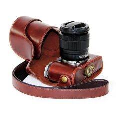 ราคา กระเป๋าหนัง Pu ฝากระเป๋ากล้องสำหรับ Fujifilm Xm1 Xa1 Xa2 กาแฟ ไม่รวมกล้อง Unbranded Generic