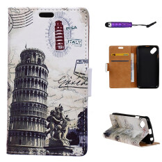 ราคา Pu Leather Case Flip Stand With Wallet Card Slots Cover For Wiko Sunny Leaning Tower Of Pisa ใน จีน