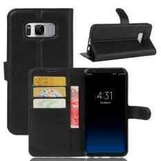 ส่วนลด Pu Leather Wallet Case Cover For Samsung Galaxy S8 Plus Black Intl จีน