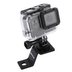 ราคา รถจักรยานยนต์อลูมิเนียม Puluz ขายึดที่ยึดถาวรพร้อมขาตั้งกล้องและสกรูสำหรับโกโปร Hero5 เซสชัน 5 4 เซสชัน 4 3 3 2 1 กล้องกีฬาอื่นๆ สีดำ สนามบินนานาชาติ Unbranded Generic
