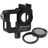 ส่วนลด Puluz Housing Shell Cnc Aluminum Alloy Protective Cage With 37Mm Uv Lens Filter Lens Cap For Gopro Hero4 Black ฮ่องกง