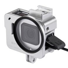 Puluz Housing Shell Cnc Aluminum Alloy Protective Cage With 52Mm Uv Lens For Gopro Hero5 Silver Intl ใหม่ล่าสุด