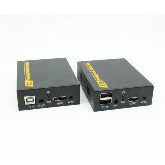 PWA-DT103KM-150/490 ฟุต HDMI KVM ขยายเครือข่ายเดียว สาย Ethernet 1080 จุดรองรับที่รองรับ HDCP (1080 จุด 490 ฟุต USB + IR + HDMI ผ่าน TCP/IP)...