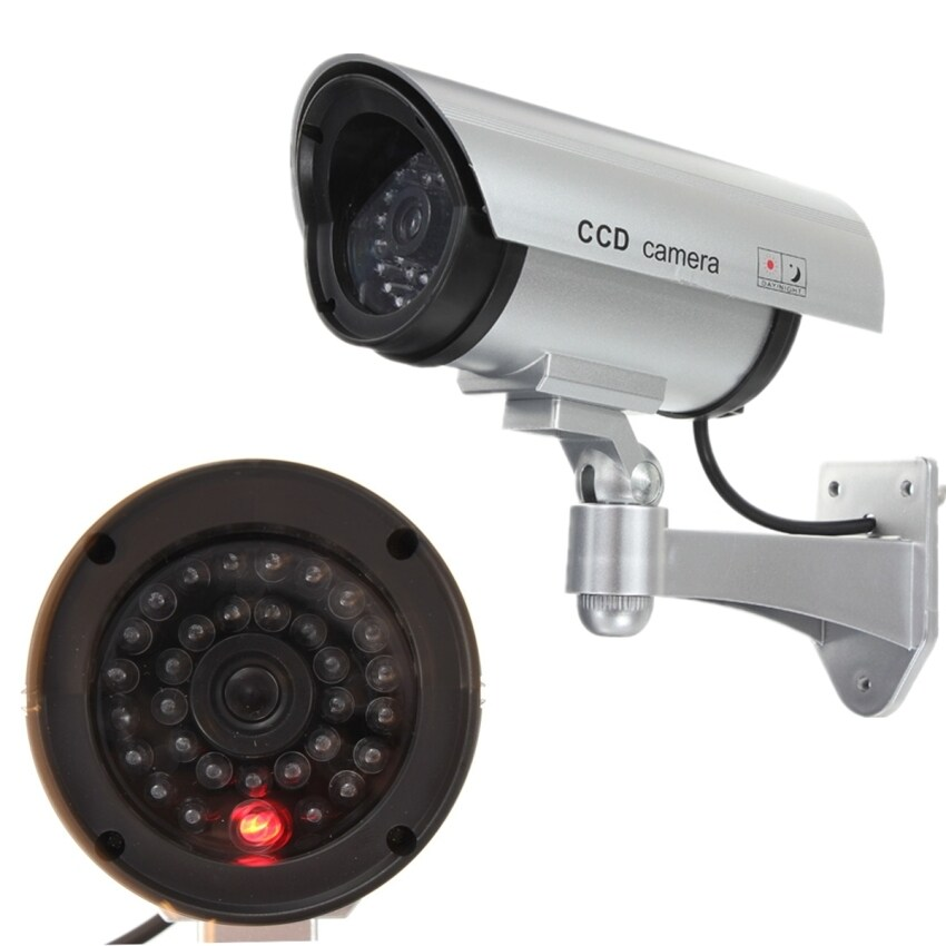 Qiaosha Adjustable Dummy Fake CCTV Security Camera w/ flashing LED-intl
