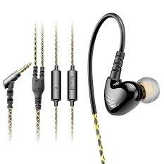 ซื้อ Qkz C6 Sport Headphone หูฟังเบสหนักสำหรับออกกำลังกายพร้อม Mic Black ถูก Thailand