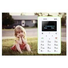 ขาย ซื้อ ออนไลน์ Qniglo M5 Ultrathin Unlocked Cartoon Mini Mobile Card Phone For Basic Back Up Use Kids Gift 2G Micro Sim