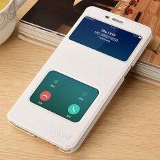 Quick Answer Cover Window View Flip Case Pu Leather Wallet Folio Stand Pouch Cover For Oppo R9Splus 6 Inch Intl จีน