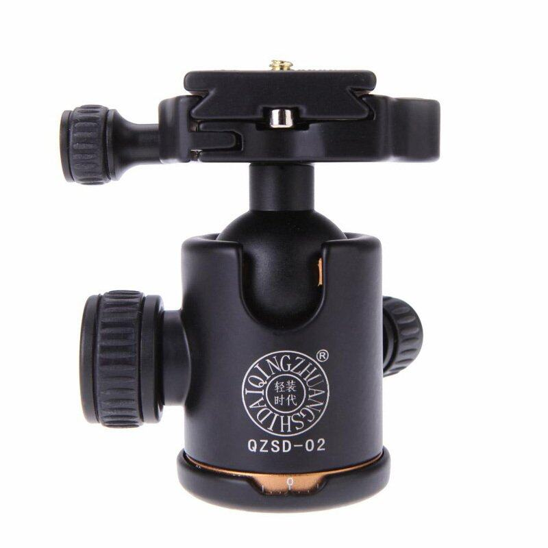 "QZSD Q-02 Ball Head หัวบอล + Quick Release Plate 1/4"" Screw"