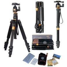 QZSD Q555 Professional Camera DV Tripod Ball Head Universal for Nikon , Canon, Sony Monopod DSLR ขาตั้งกล้อง ทำเป็นขาเดี่ยวได้