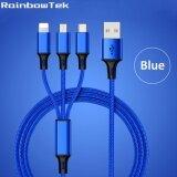 ขาย Rainbowtek Er Ca37 120Cm 3 In1 Usb Cable Multi Charger Data Line For Iphone Samsung Type C Smart Phones Intl