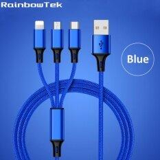 ขาย Rainbowtek Er Ca37 120Cm 3 In1 Usb Cable Multi Charger Data Line For Iphone Samsung Type C Smart Phones Intl ถูก