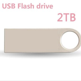 Ready Stock 2T Usb Flash Drive Usb3.0 High-speed Transmission Drive Metal Texture U Disk Memory Card -Silver - intl