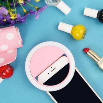 【Clearance Sale】ชาร์จไฟแบบพกพา Selfie เติมแหวนไฟ LED กล้องถ่ายภาพสำหรับ IPhone Android Pink - INTL