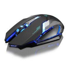 ซื้อ Rechargeable X7 Wireless Silent Led Backlit Usb Optical Ergonomic Gaming Mouse Intl Unbranded Generic
