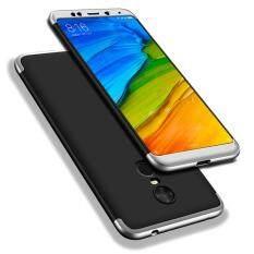 R edmi 5 พลัสเคส, RUILEAN ปกป้อง360องศา 3 ใน 1เนื้อด้านเคสพีซีรุ่นสลิมเปลือกแข็งสำหรับ Xiaomi Redmi 5 พลัสสีดำ + กระจกนิรภัยป้องกันหน้าจอ